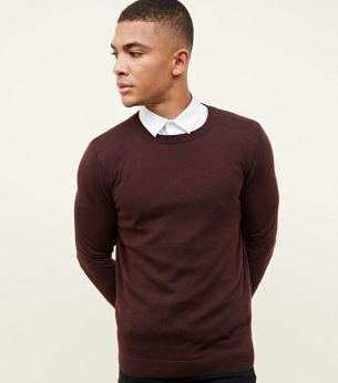 burgundy-crew-neck-jumper