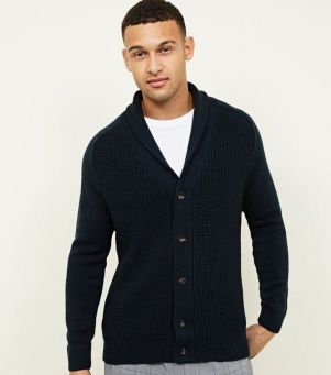teal-shawl-neck-button-up-cardigan-